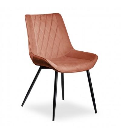 ADELLA RÓŻOWE krzesło tapicerowane velvet