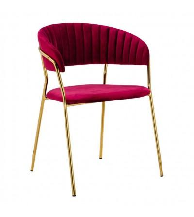 FEBA BORDOWE krzesło tapicerowane velvet