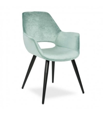 VOLTER MIĘTOWE krzesło tapicerowane VELVET