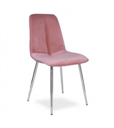 LENA RÓŻOWE krzesło tapicerowane velvet
