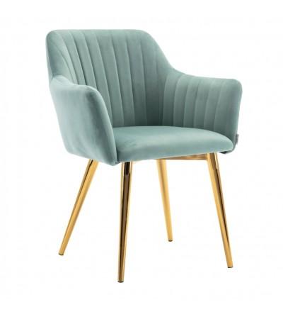 LAURA MIĘTOWE krzesło tapicerowane velvet