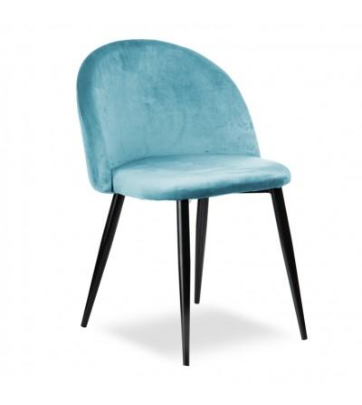 SOUL BŁĘKITNE krzesło tapicerowane velvet