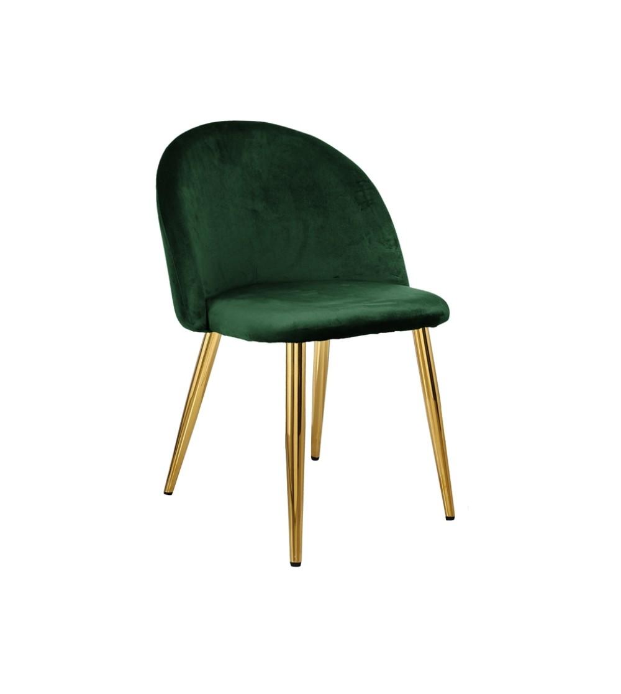 SOUL ZIELONE krzesło tapicerowane velvet