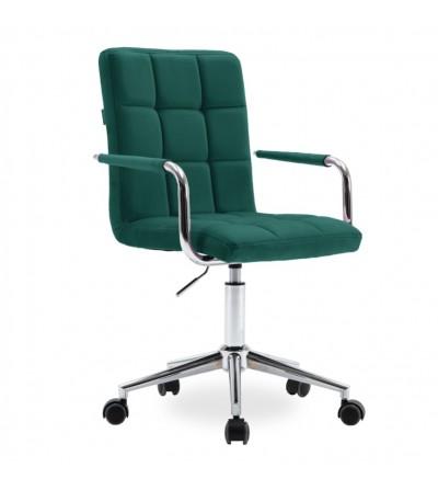REY zielony fotel obrotowy tapicerowany