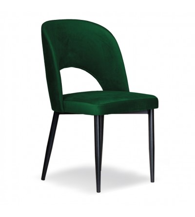 ZOYA ZIELONE krzesło tapicerowane velvet
