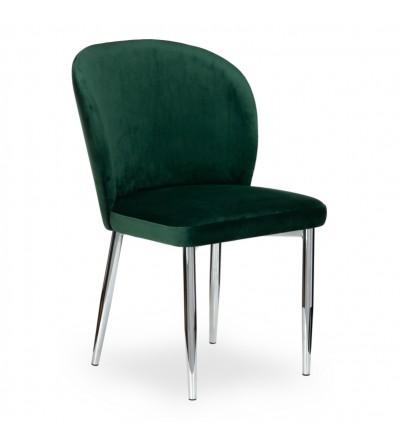 RIO CIEMNO ZIELONE krzesło tapicerowane velvet