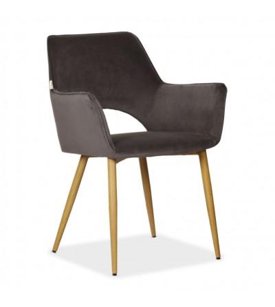 WALTER SZARY krzesło tapicerowane VELVET