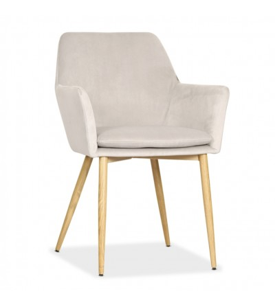 VIKTOR JASNO SZARE krzesło tapicerowane VELVET