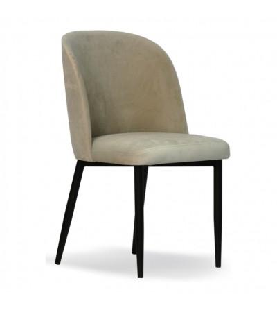 AMY PISTACJOWE krzesło tapicerowane velvet