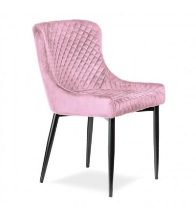 EAST RÓŻOWE krzesło tapicerowane velvet