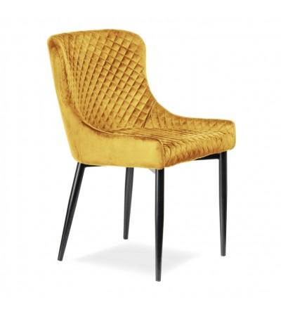 EAST CURRY krzesło tapicerowane velvet