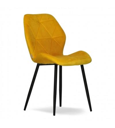 MAYA 2  ŻÓŁTE krzesło tapicerowane VELVET