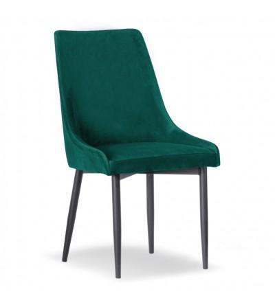 FAREL TURKUSOWE krzesło tapicerowane velvet