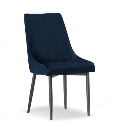 FAREL GRANATOWE krzesło tapicerowane velvet