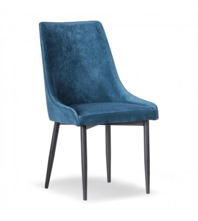 FAREL NIEBIESKIE  krzesło tapicerowane velvet