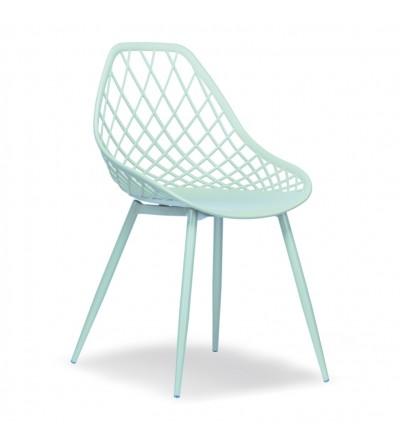 CHICO miętowe plastikowe krzesło