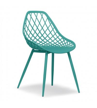 CHICO turkusowe plastikowe krzesło