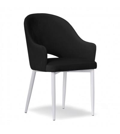GLORIA CZARNE krzesło tapicerowane velvet