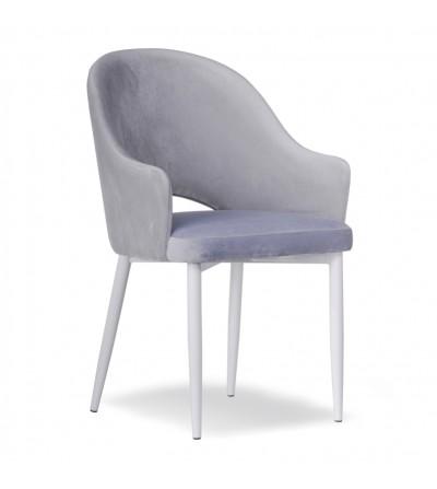 GLORIA JASNO SZARE krzesło tapicerowane velvet