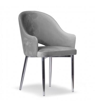 GLORIA CIEMNO SZARE krzesło tapicerowane velvet