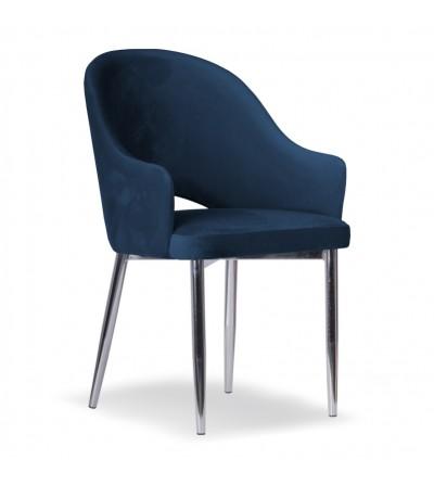 GLORIA GRANATOWE krzesło tapicerowane velvet