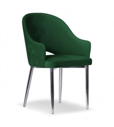 GLORIA ZIELONE krzesło tapicerowane velvet