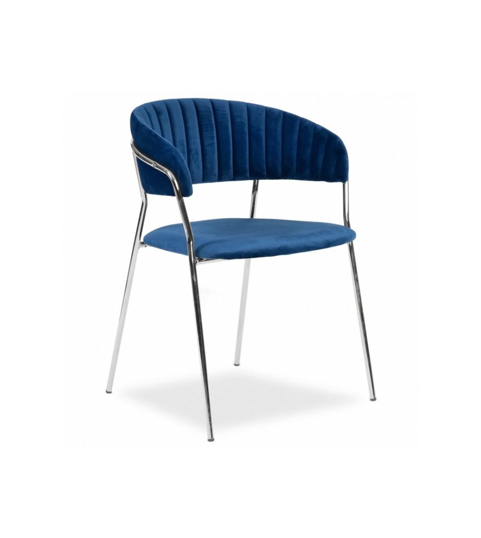 FEBA GRANATOWE krzesło tapicerowane velvet