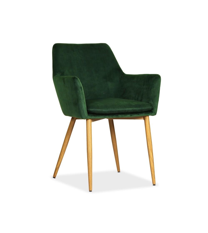 VIKTOR ZIELONE krzesło tapicerowane VELVET