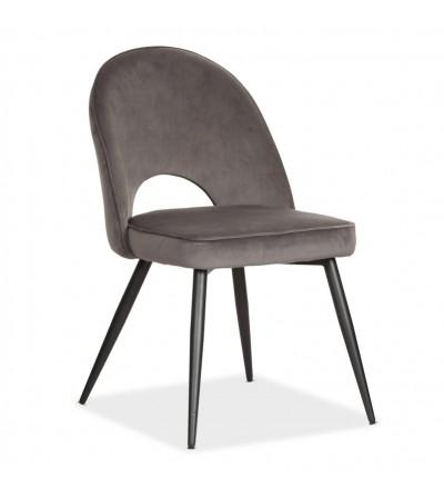 MAXIM SZARY krzesło tapicerowane velvet