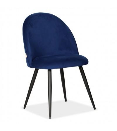 SOUL MAX GRANATOWE krzesło tapicerowane velvet