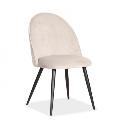 SOUL MAX JASNO SZARE krzesło tapicerowane velvet