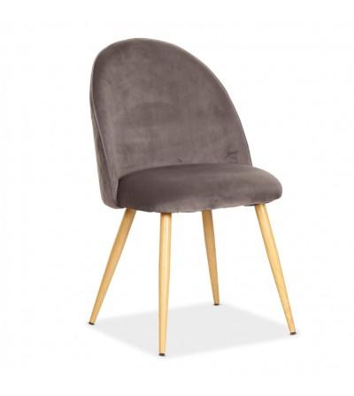 SOUL MAX SZARE krzesło tapicerowane velvet
