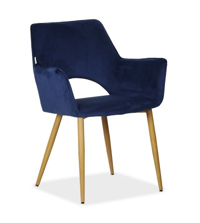 WALTER GRANATOWY krzesło tapicerowane VELVET