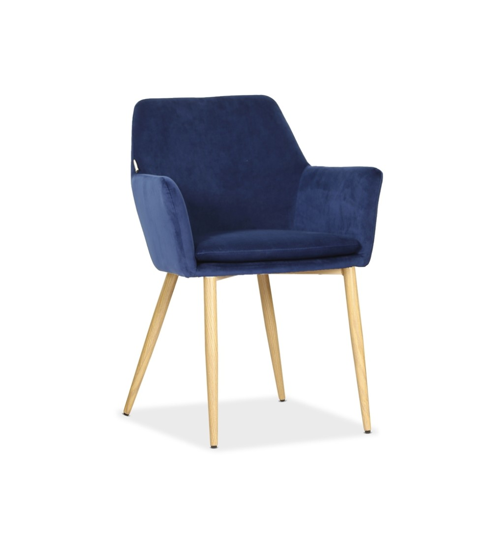 VIKTOR GRANATOWE krzesło tapicerowane VELVET