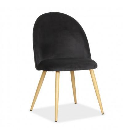 SOUL MAX CZARNE krzesło tapicerowane velvet