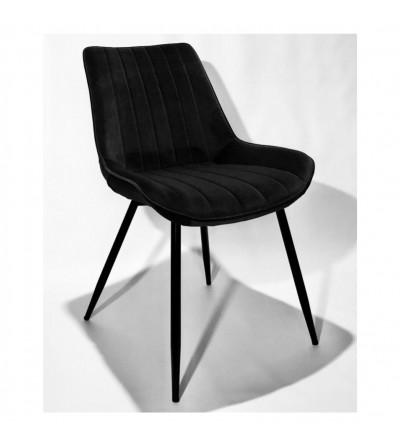 GINO CZARNE krzesło tapicerowane velvet