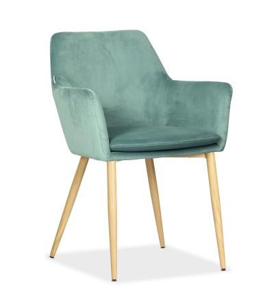 VIKTOR MIĘTOWE krzesło tapicerowane VELVET