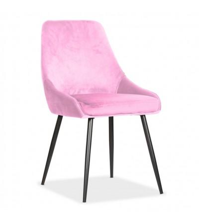 RINO RÓŻOWE tapicerowane krzesło velvet