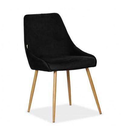RINO CZARNE tapicerowane krzesło velvet