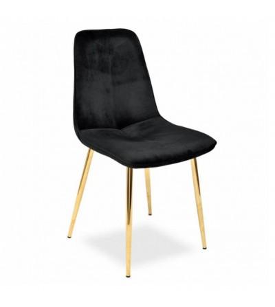 LENA CZARNE krzesło tapicerowane velvet