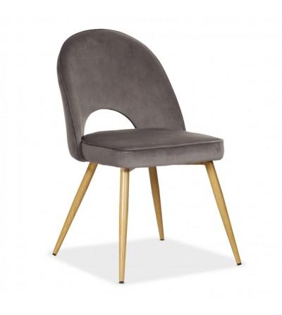 MAXIM SZARE krzesło tapicerowane velvet