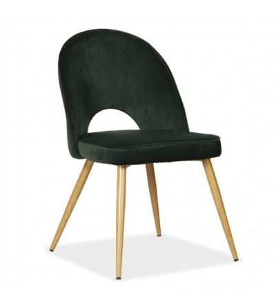 MAXIM ZIELONE krzesło tapicerowane velvet