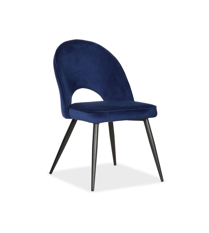MAXIM GRANATOWE krzesło tapicerowane velvet
