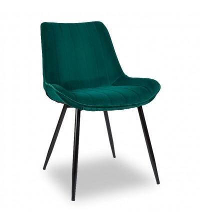 GINO ZIELONE krzesło tapicerowane velvet