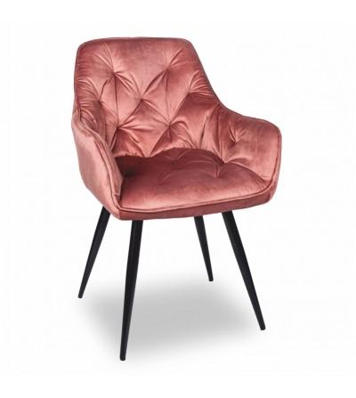 LONDON RÓŻOWE krzesło tapicerowane velvet