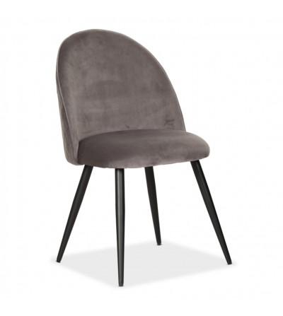 SOUL MAX CIEMNO SZARE krzesło tapicerowane velvet