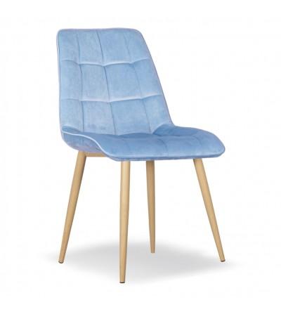 IKAR NIEBIESKIE krzesło tapicerowane velvet