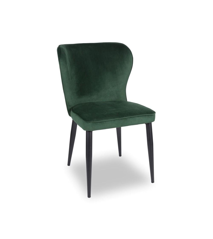 CLEO ZIELONE krzesło tapicerowane velvet