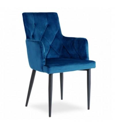 CAREN II GRANATOWE krzesło tapicerowane velvet