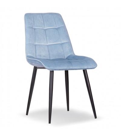 IKAR JASNY NIEBIESKI krzesło tapicerowane velvet